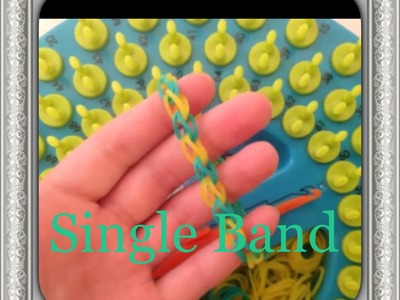 How To Make The Single Band Bracelet On The Sunshine Loom
