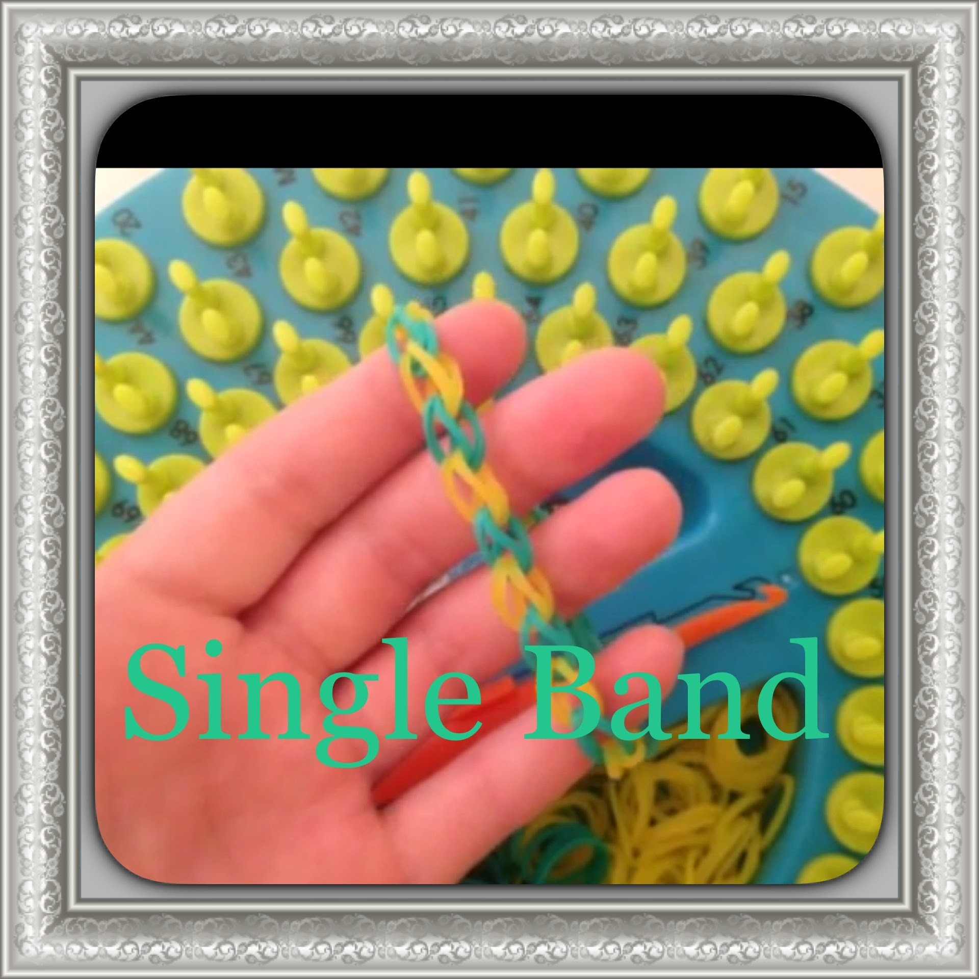 How To Make The Single Band Bracelet On The Sunshine Loom