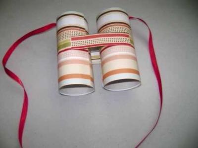 How to make toilet paper rolls binoculars - EP
