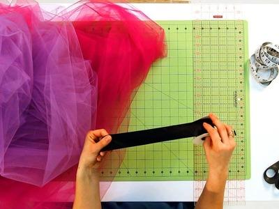 How to Prep the Ribbon for No-Sew Tutu   No-Sew Crafts
