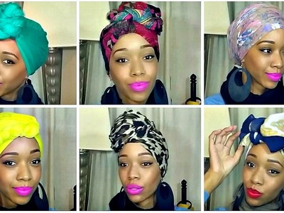 How to Tie a Turban.Headwrap | 10 Different Styles + GIVEAWAY!!!(CLOSED)