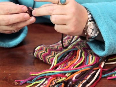 Ideas for Beads on the Fringe for a Knitted Scarf : Custom Crafts
