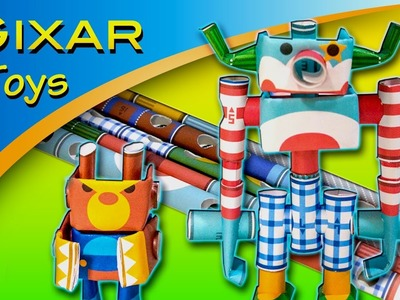 Japanese Paper Craft: Piperoid Robots Funny and Angry