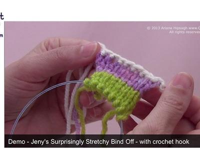 Jeny's Surprisingly Stretchy Bind Off using a Crochet Hook
