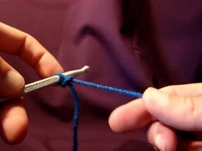 Left Hand: Crochet Slip Knot