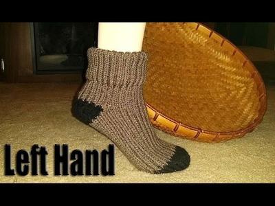 **Left Hand** Glama's First Loom Knit Socks Tutorial