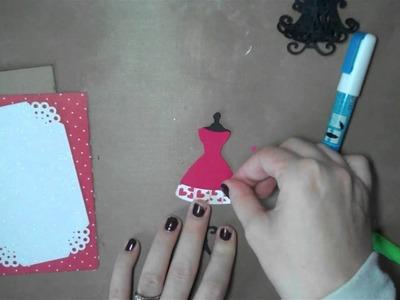 Let's Get Crafty # 78 Valentine Dressform Card