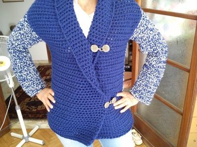 Loom Knit Mock Crochet Jacket