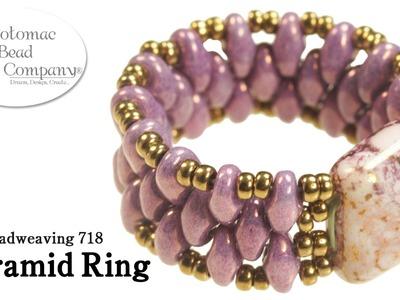 Make a Pyramid Bead Ring
