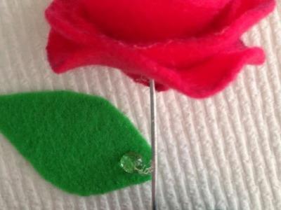 Make A Simple Hot-Glued Felt Rose - Crafts - Guidecentral