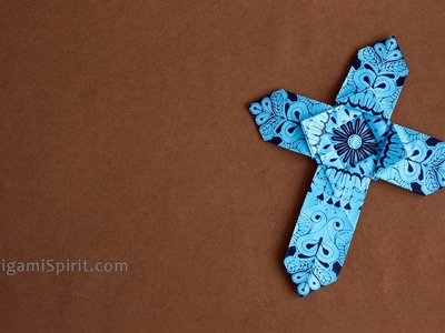 Origami Cross - Version 1 : : Cruz de papel 1