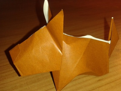 Origami: real dog cagnolino 3D