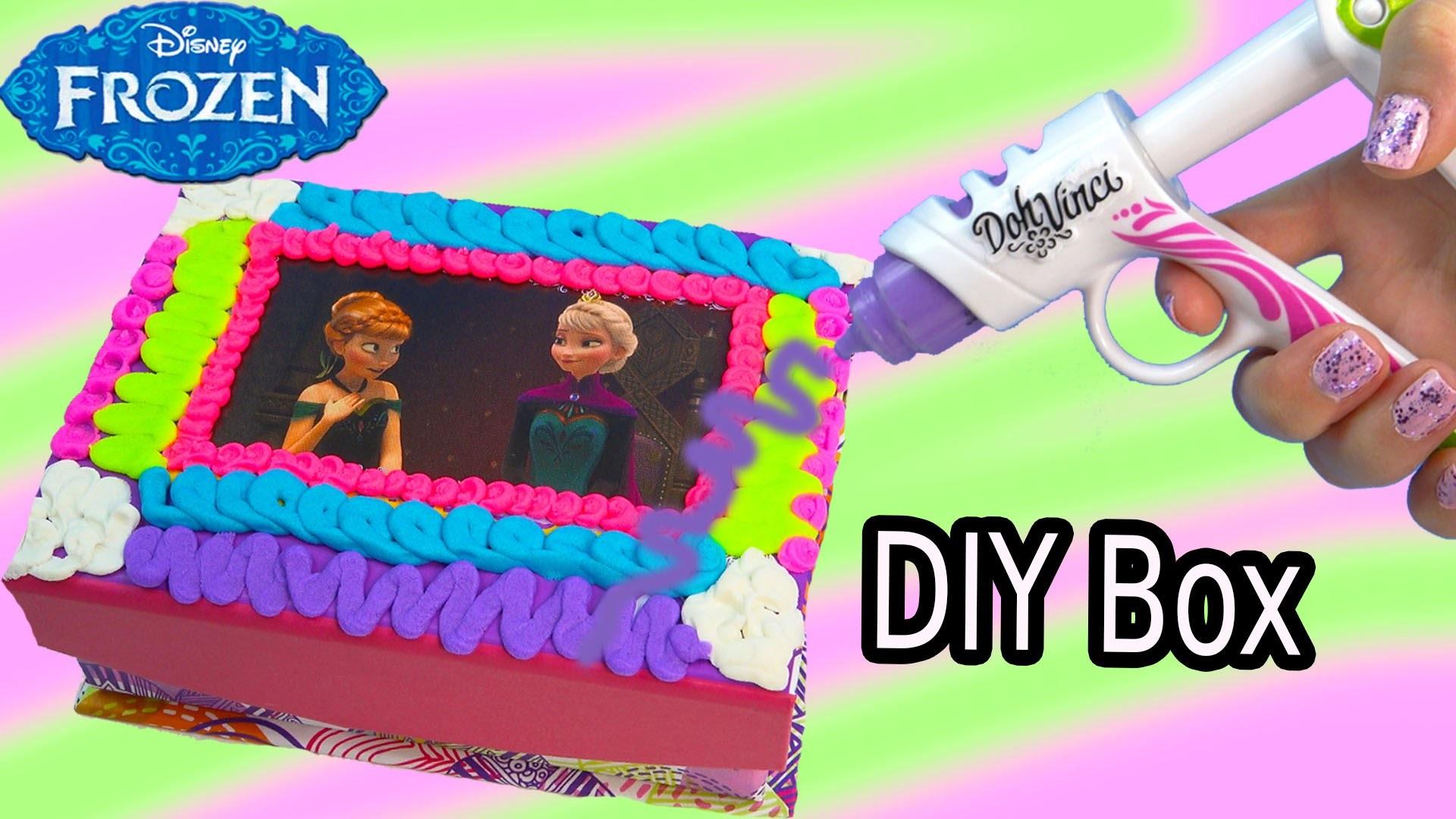 Queen Elsa Princess Anna Playdoh DohVinci DIY Disney Frozen Sticker Box Toy Play Doh Vinci Fun Craft