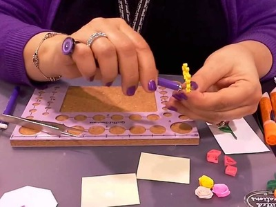 Quilled Creations Beehive Technique demo at the CHA Show!