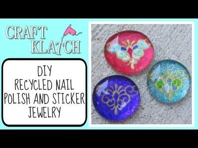 Recycled Nail Polish and Sticker Jewelry Craft Klatch Jewelry Series
