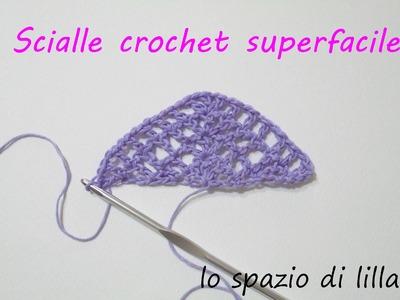 Scialle crochet superfacile. Easy peasy crochet shawl