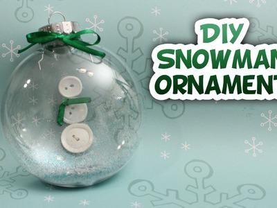 Snowman Snow-globe Ornament - Whitney Crafts