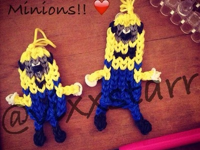 Tall Skinny Minion Charm (Rainbow Loom Tutorial) Despicable Me Character Figurine Bag Tag