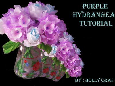 Tissue Paper Flowers Tutorial  : Purple Hydrangeas