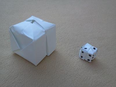 Tutorial Cubo o dado de papel - How to make an origami cube or dice