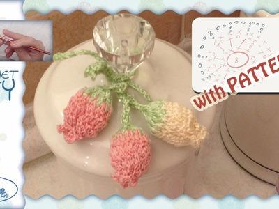 Tutorial Uncinetto ❀ Campanelline ❀ [crochet bellflower bouquet] [with pattern]