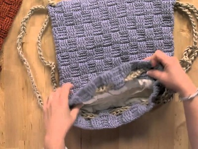Use a Basket Weave stitch to Make a Backpack and a Purse