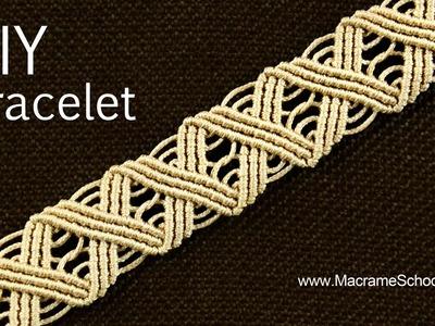 Wavy Macramé ZigZag Bracelet Tutorial ╳╳╳╳