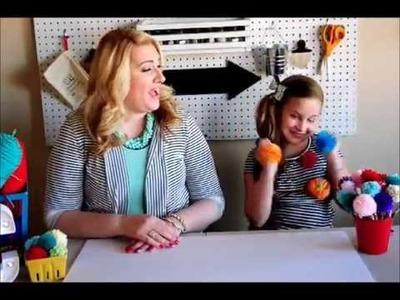 Yarn Pom Pom Tutorial with Pom Pom Pencils