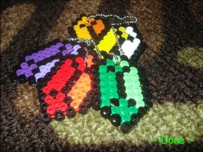 ~ Zelda Rupee ~ Perler Bead  Key Chain ~