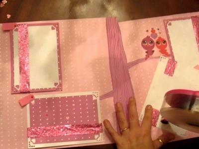 """2012 Valentine's Day Scrapbooking Page Layout """"My Very Tweet Kids"""""""