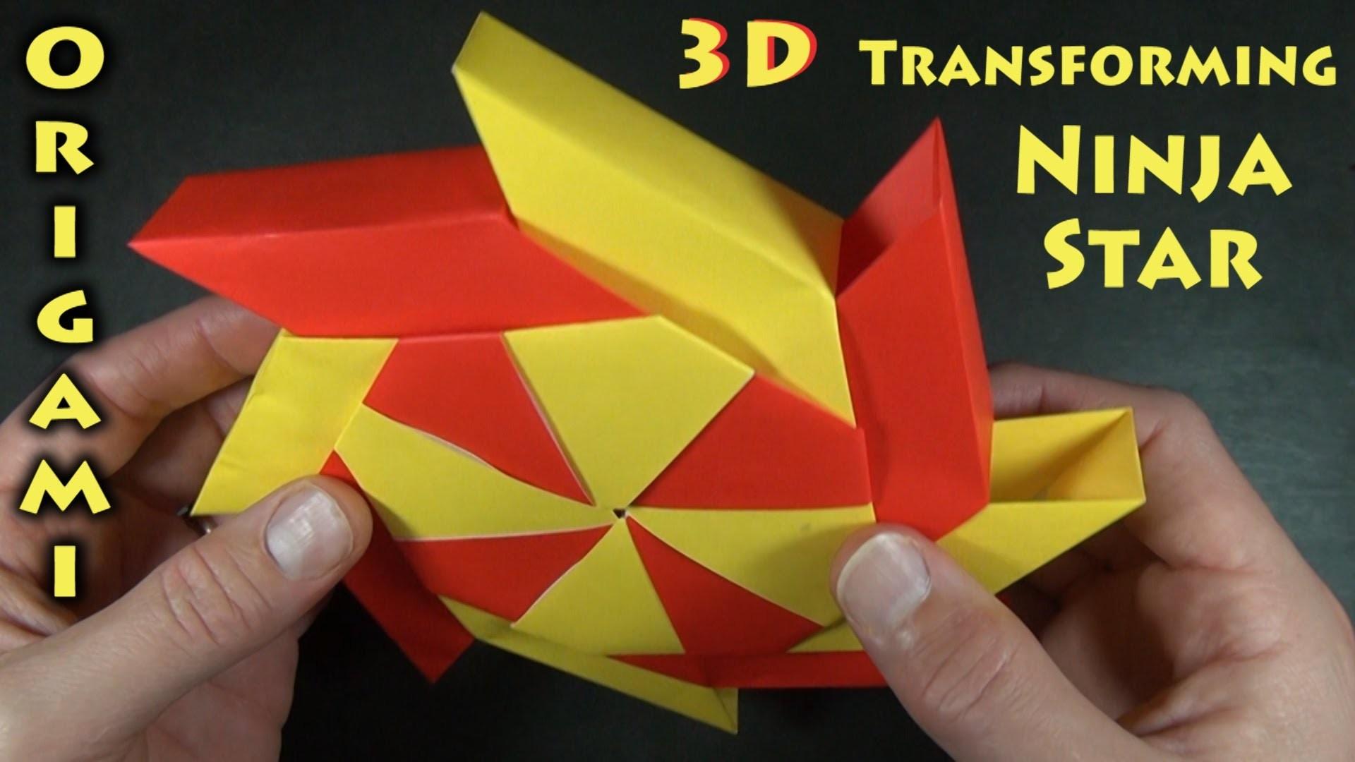 3-D Transforming Ninja Star designed by Ray Bolt