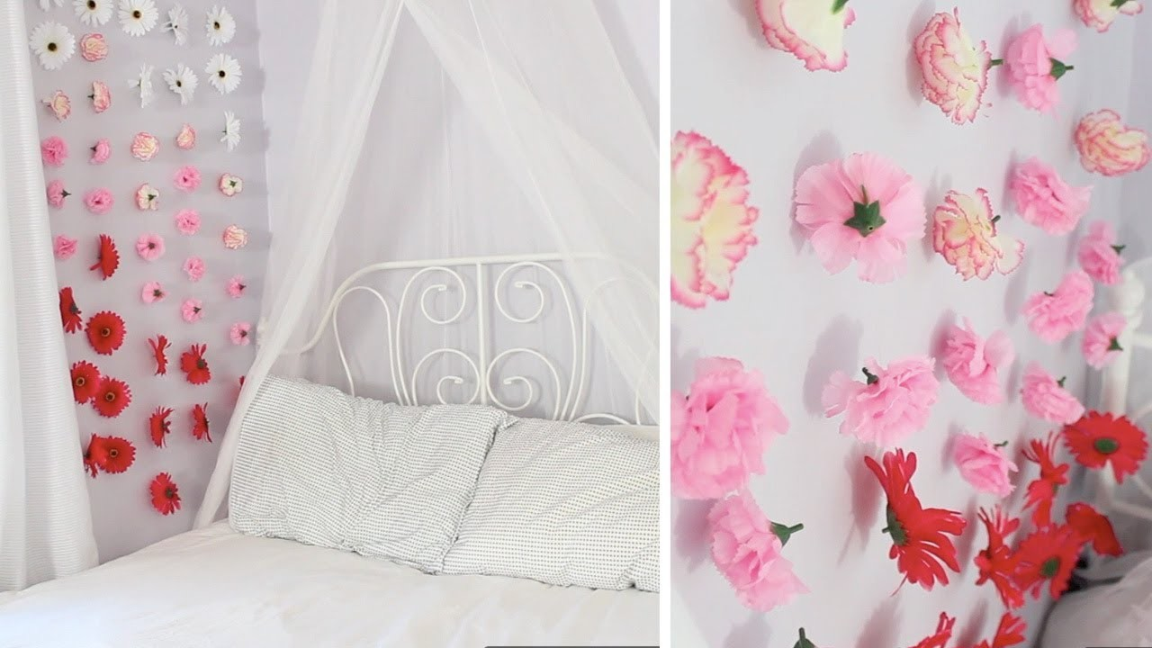 Apartment Decor DIY: Flower Wall Chains