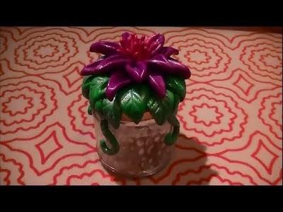 Craft Tutorial: Fairy flower glow jar DIY