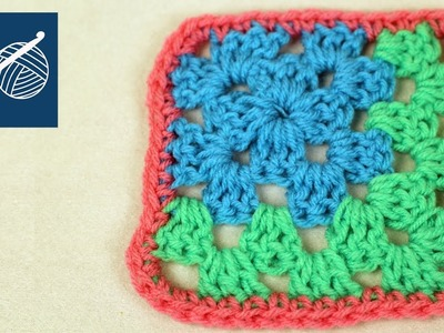 Crochet Corner Granny Square - How to Make Left Hand Crochet Geek