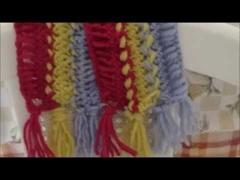 CROCHET HAIRPIN LACE SCARF