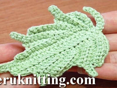 Crochet Leaf How to Tutorial 24 Part 1 of 2 Single Crochet Stitches Worked In Back Loop