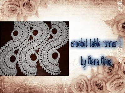 Crochet table runner part two