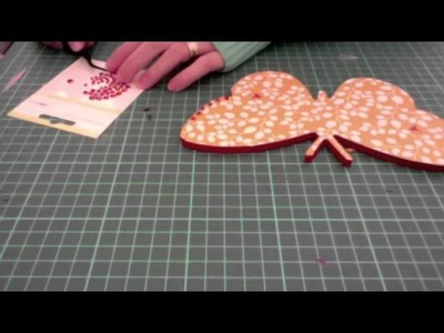 Decorating wooden butterfly plaques