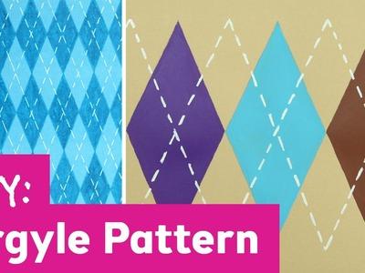 DIY Argyle Print Pattern
