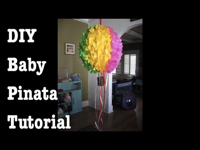 DIY Baby Piñata Tutorial