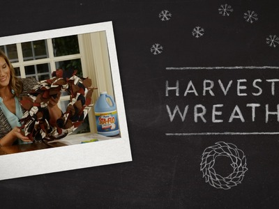 DIY Crafts: Create a Harvest Wreath using Sta-Flo Starch