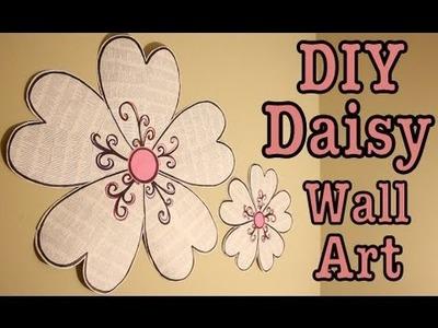 DIY: DAISY WALL ART! ROOM DECOR | #Roomspiration