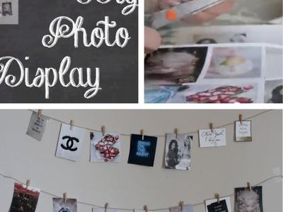 DIY: Dorm Photo Display Room Decoration