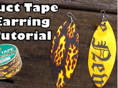 DIY Duct Tape Earrings by The Creative Lady