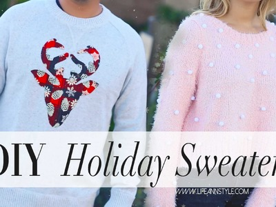 DIY Easy Holiday Sweaters {Gift Ideas} | ANNEORSHINE
