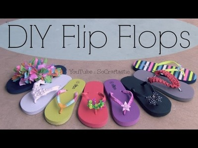 DIY Flip Flops Decorating - How To Decorate Sandals for Summer