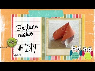DIY Fortune cookie - Galleta fortuna
