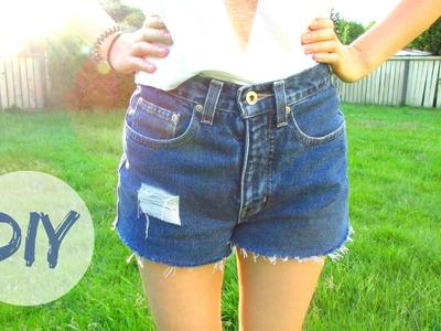 DIY: High Waisted Shorts (Cut-off and Cuffed)