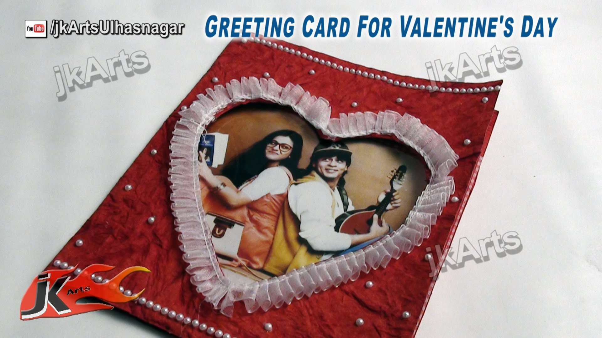 DIY How to make valentine's day Greeting Card (Personalized Photo Card) - JK Arts 478