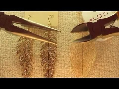 DIY: How to turn an earring into a necklace